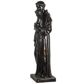Statue St Antoine de Padoue 100 cm résine bronzée s4