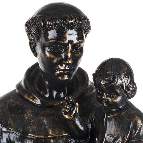 Statue St Antoine de Padoue 100 cm résine bronzée 2