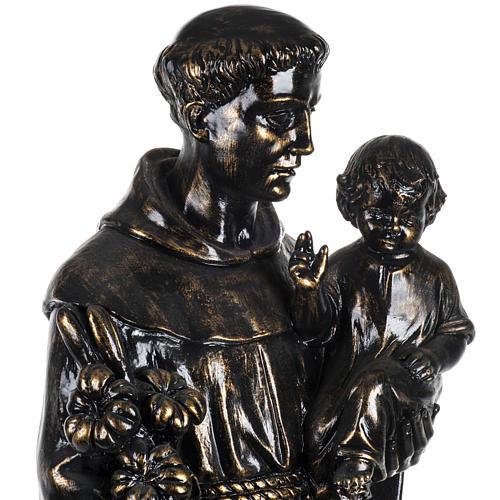 Statue St Antoine de Padoue 100 cm résine bronzée 3
