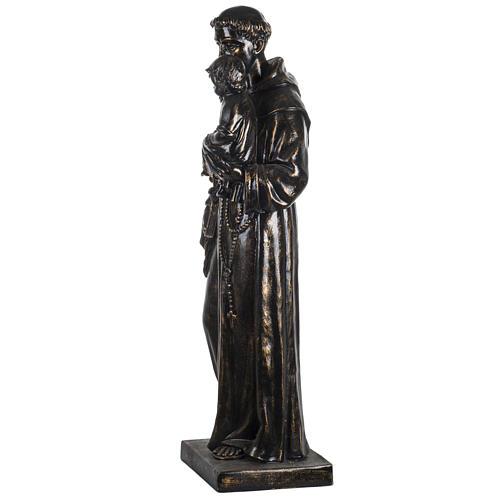 Statue St Antoine de Padoue 100 cm résine bronzée 4