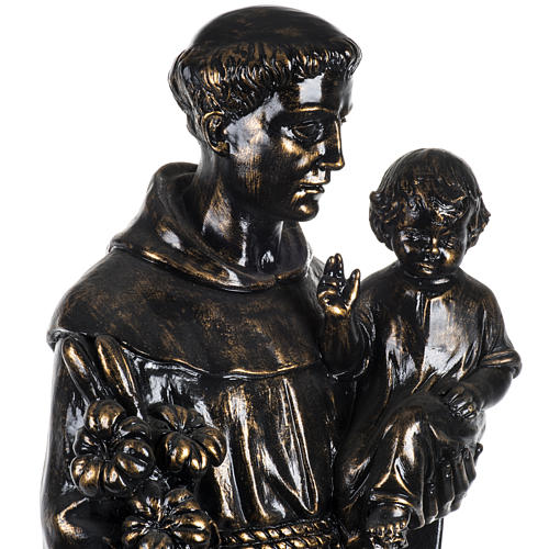 Statua Sant'Antonio 100 cm finitura bronzo Fontanini 3