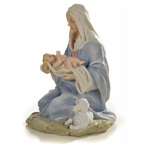 Virgin with baby statue in resin, 15cm 2