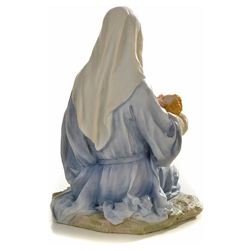 Virgin with baby statue in resin, 15cm 3