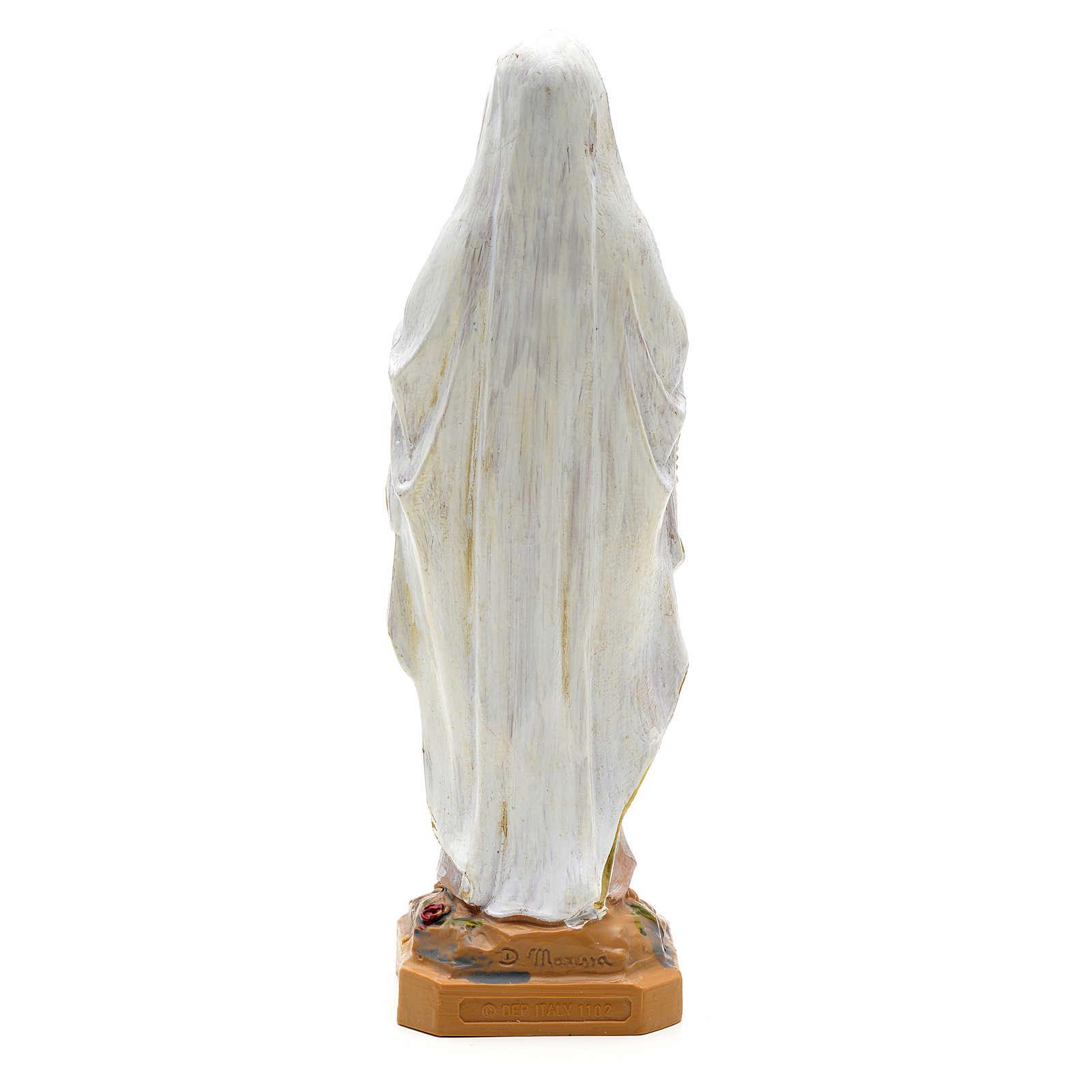 Statue Notre Dame de Lourdes 18 cm résine Fontanini 4
