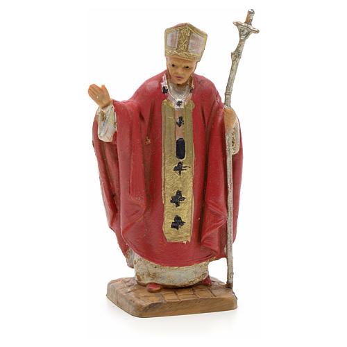 Giovanni Paolo II veste rossa 7 cm resina Fontanini 1