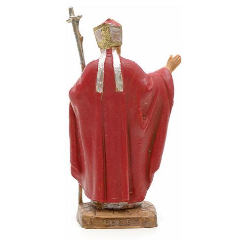 Giovanni Paolo II veste rossa 7 cm resina Fontanini 2