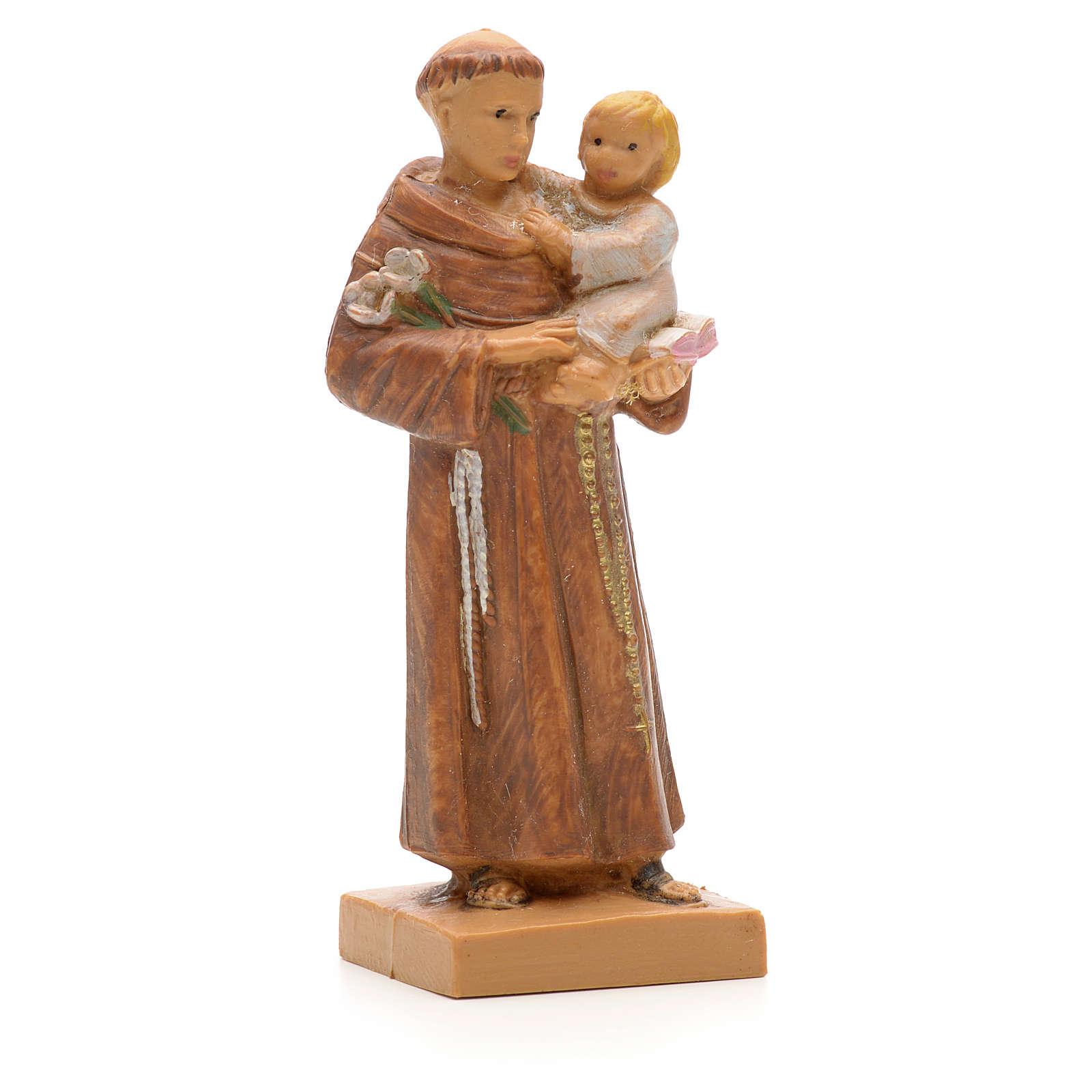 Saint Antoine et l'enfant Jésus statue 7cm Fontanini 4