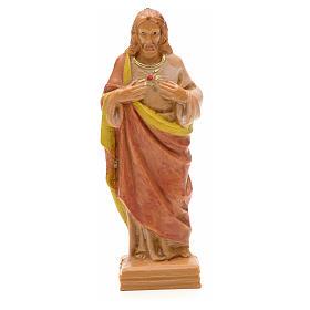Imagens em Resina e PVC: Sagrado Coração de Jesus 7 cm Fontanini
