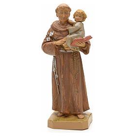 Statuen aus Kunstharz und PVC: Antonius von Padua mit Kind 18cm, Fontanini