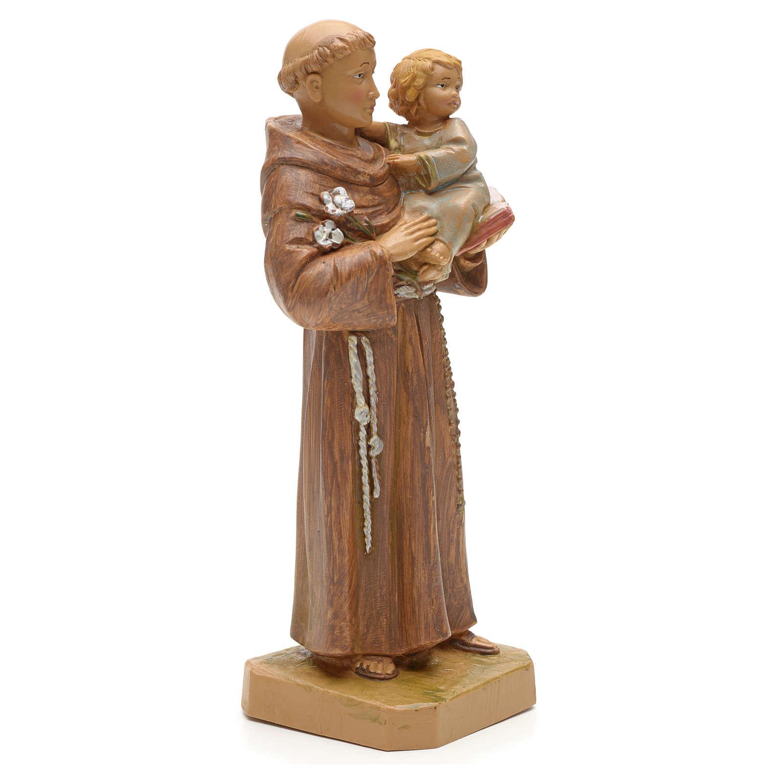 Sant'Antonio da Padova con bambino 18 cm Fontanini 4