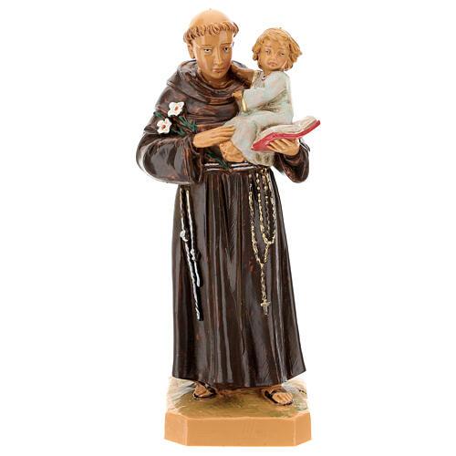 Imagem Santo António de Lisboa com Menino Jesus 18 cm Resina Fontanini 1