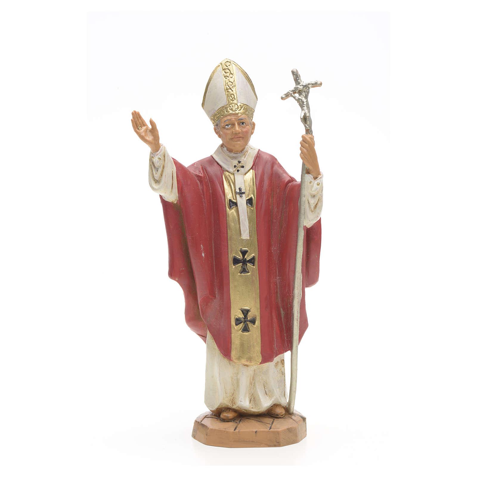 Statue Jean Paul II veste rouge 18 cm Fontanini 4
