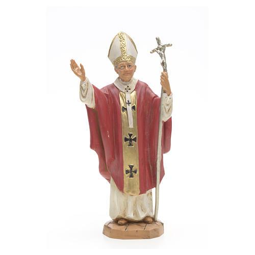 Statue Jean Paul II veste rouge 18 cm Fontanini 1