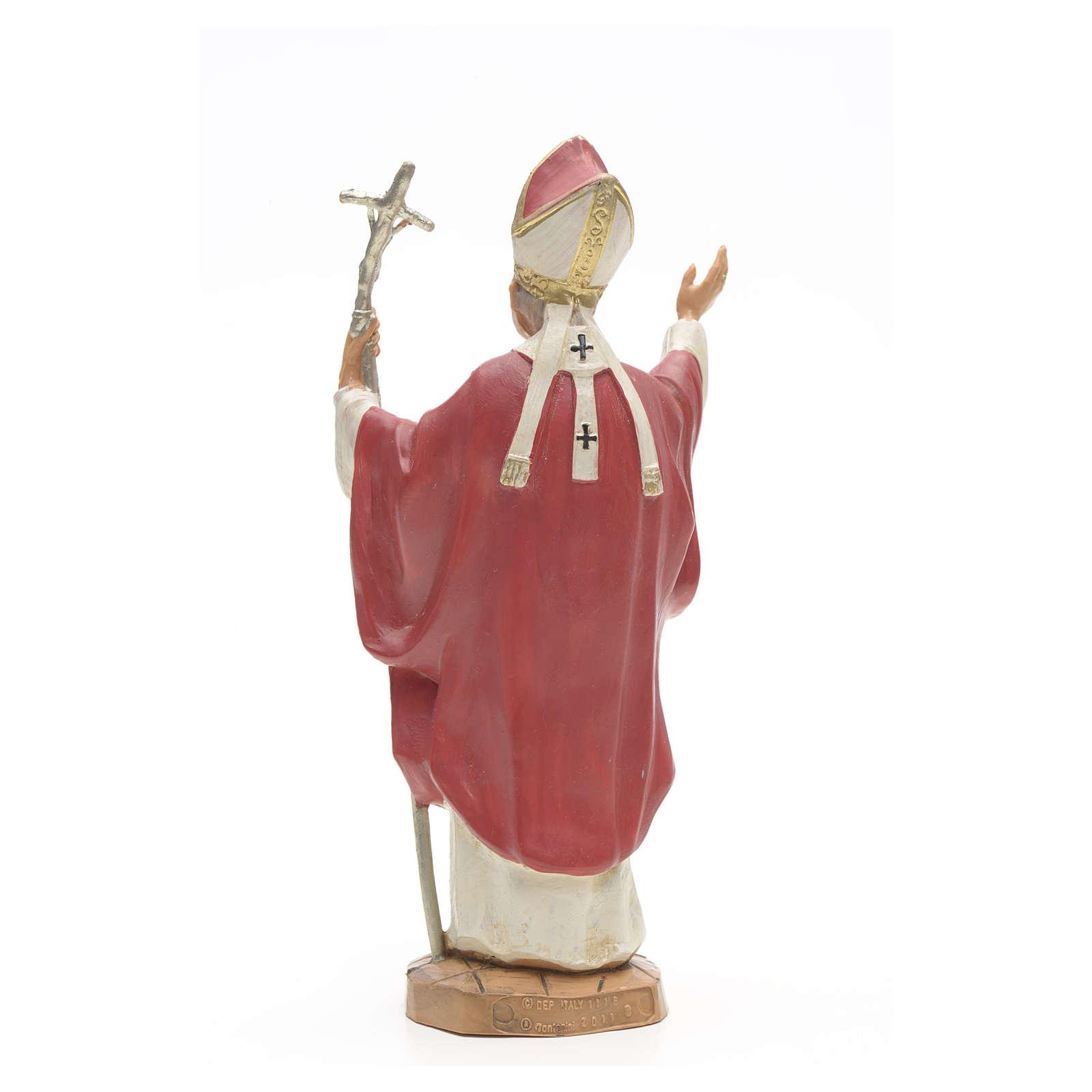 Giovanni Paolo II veste rossa 18 cm Fontanini 4