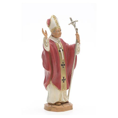 Giovanni Paolo II veste rossa 18 cm Fontanini 2