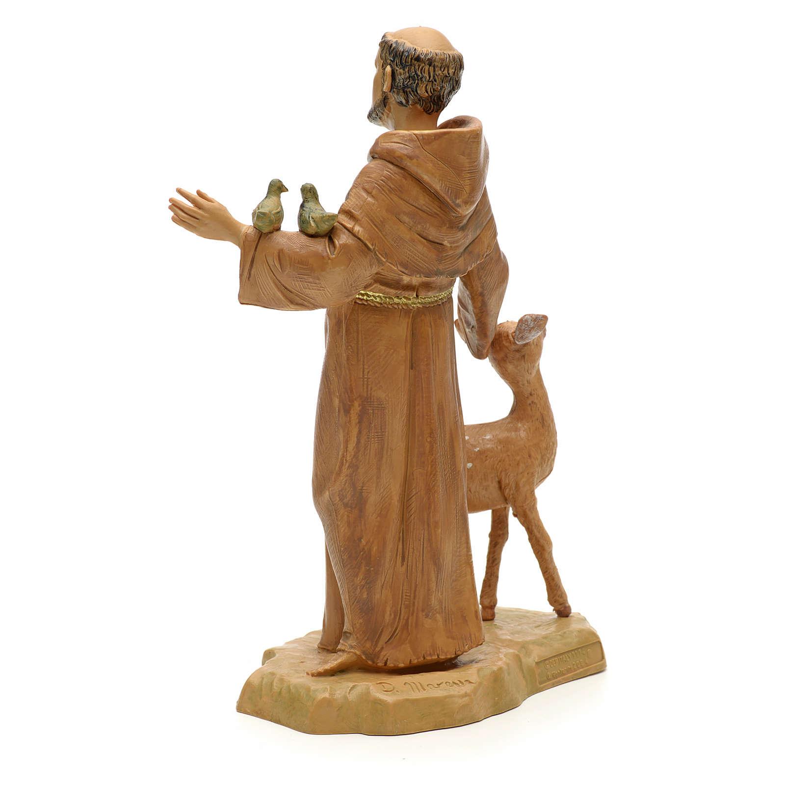 Statue St François et les animaux 18 cm Fontanini 4