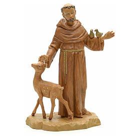 Statue St François et les animaux 18 cm Fontanini s1