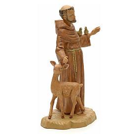 Statue St François et les animaux 18 cm Fontanini s4