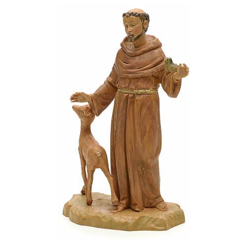 Statue St François et les animaux 18 cm Fontanini 2