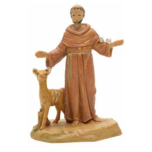 Statue St François et les animaux 7 cm Fontanini 1