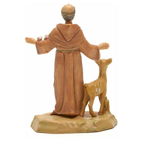 Statue St François et les animaux 7 cm Fontanini 2