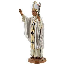 Jean Paul II veste blanche, statue 18 cm Fontanini s2