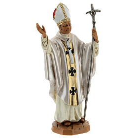 Jean Paul II veste blanche, statue 18 cm Fontanini s3