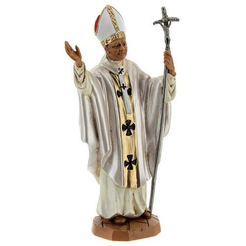 Jean Paul II veste blanche, statue 18 cm Fontanini 3