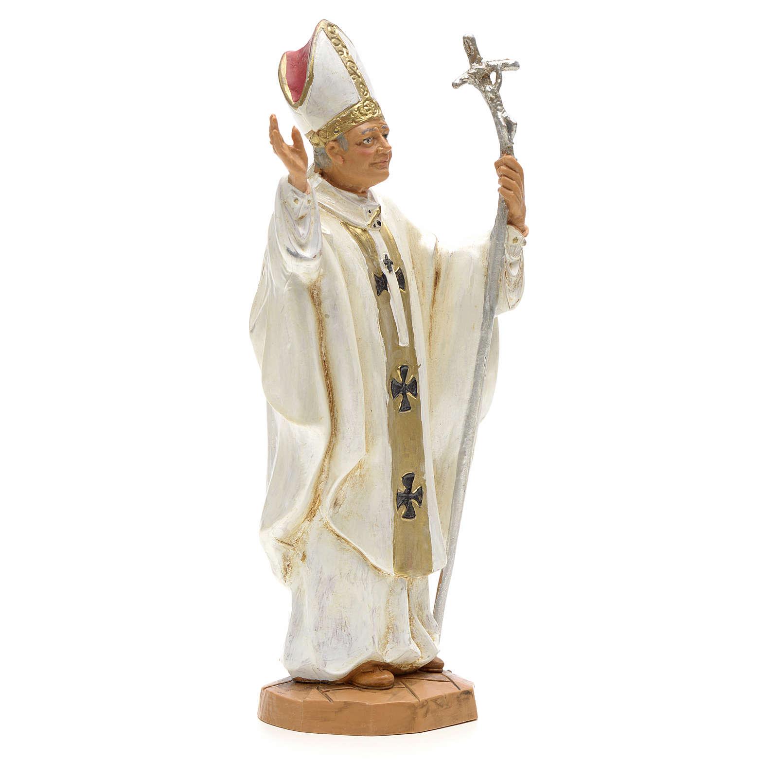 Giovanni Paolo II (bianco) 18 cm Fontanini 4