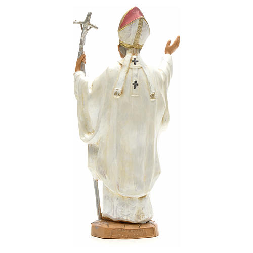 Giovanni Paolo II (bianco) 18 cm Fontanini 3