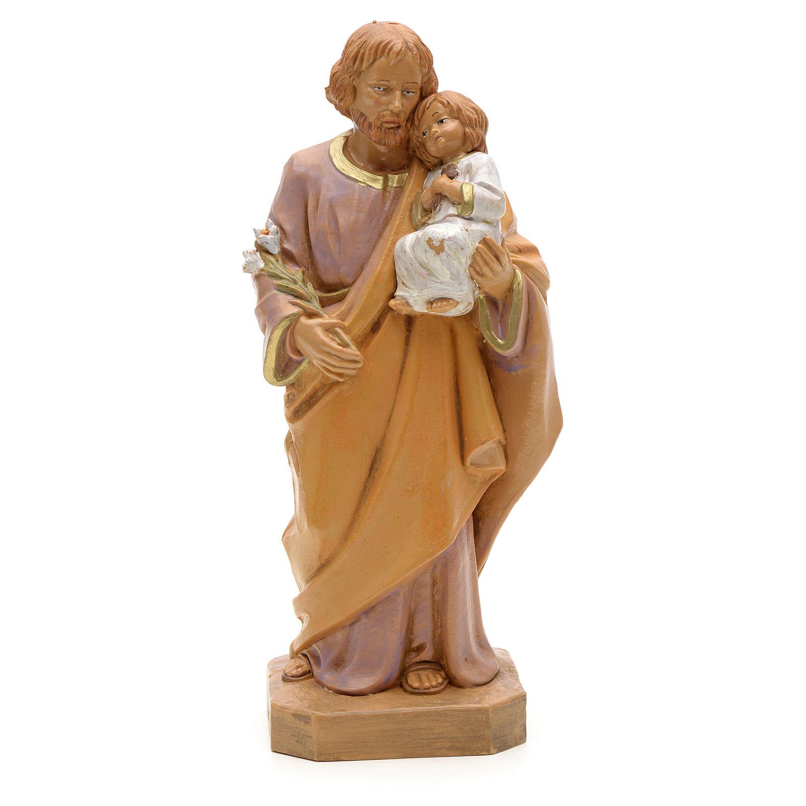 Statue St Joseph à l'enfant 18 cm Fontanini 4