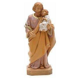 Statue St Joseph à l'enfant 18 cm Fontanini s1