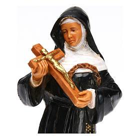 Statue Sainte Rita avec crucifix 18 cm Fontanini s2