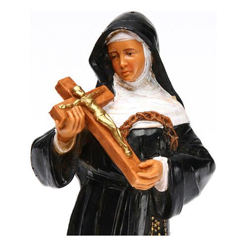Statue Sainte Rita avec crucifix 18 cm Fontanini 2
