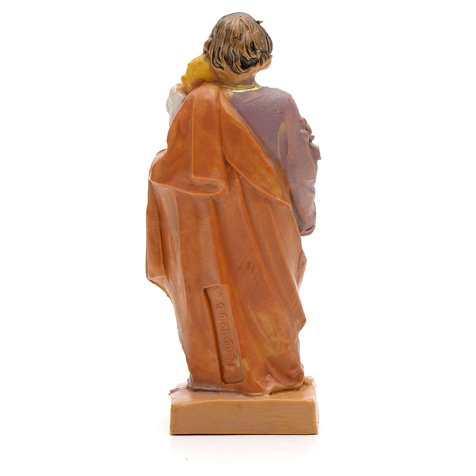 Statue St Joseph à l'enfant 7 cm Fontanini 4