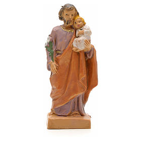 Statue St Joseph à l'enfant 7 cm Fontanini s1