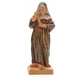 Statues en résine et PVC: Statue Sainte Rita avec crucifix 7 cm Fontanini