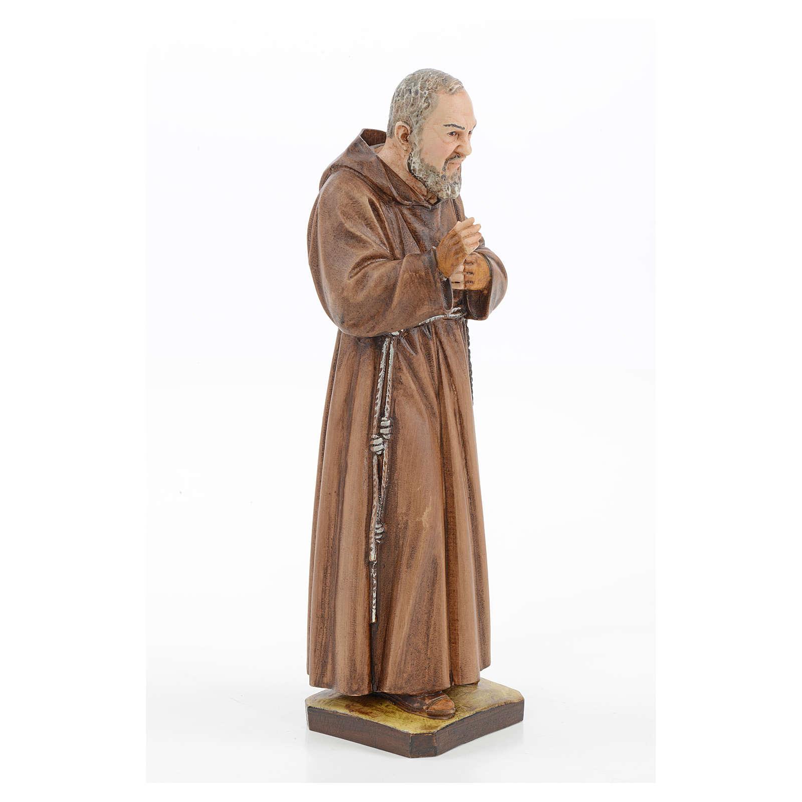 Statue Saint Pio résine 30 cm Landi 4