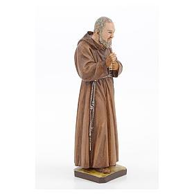 Statue Saint Pio résine 30 cm Landi s4
