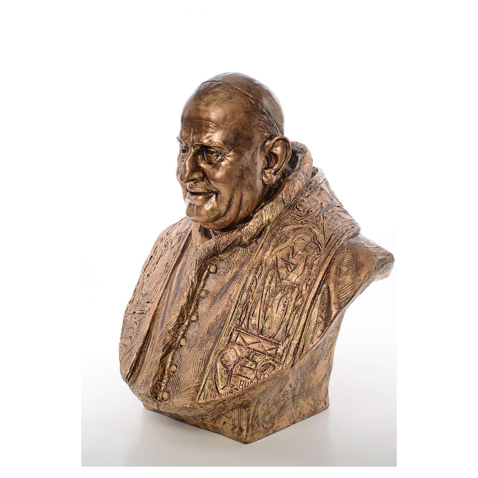 Busto Giovanni XXIII cm80 vetroresina colore bronzo Landi 4