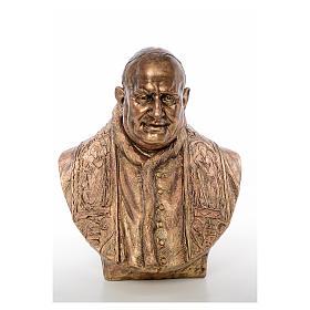 Busto Giovanni XXIII cm80 vetroresina colore bronzo Landi s1
