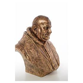 Busto Giovanni XXIII cm80 vetroresina colore bronzo Landi PER ESTERNO s4