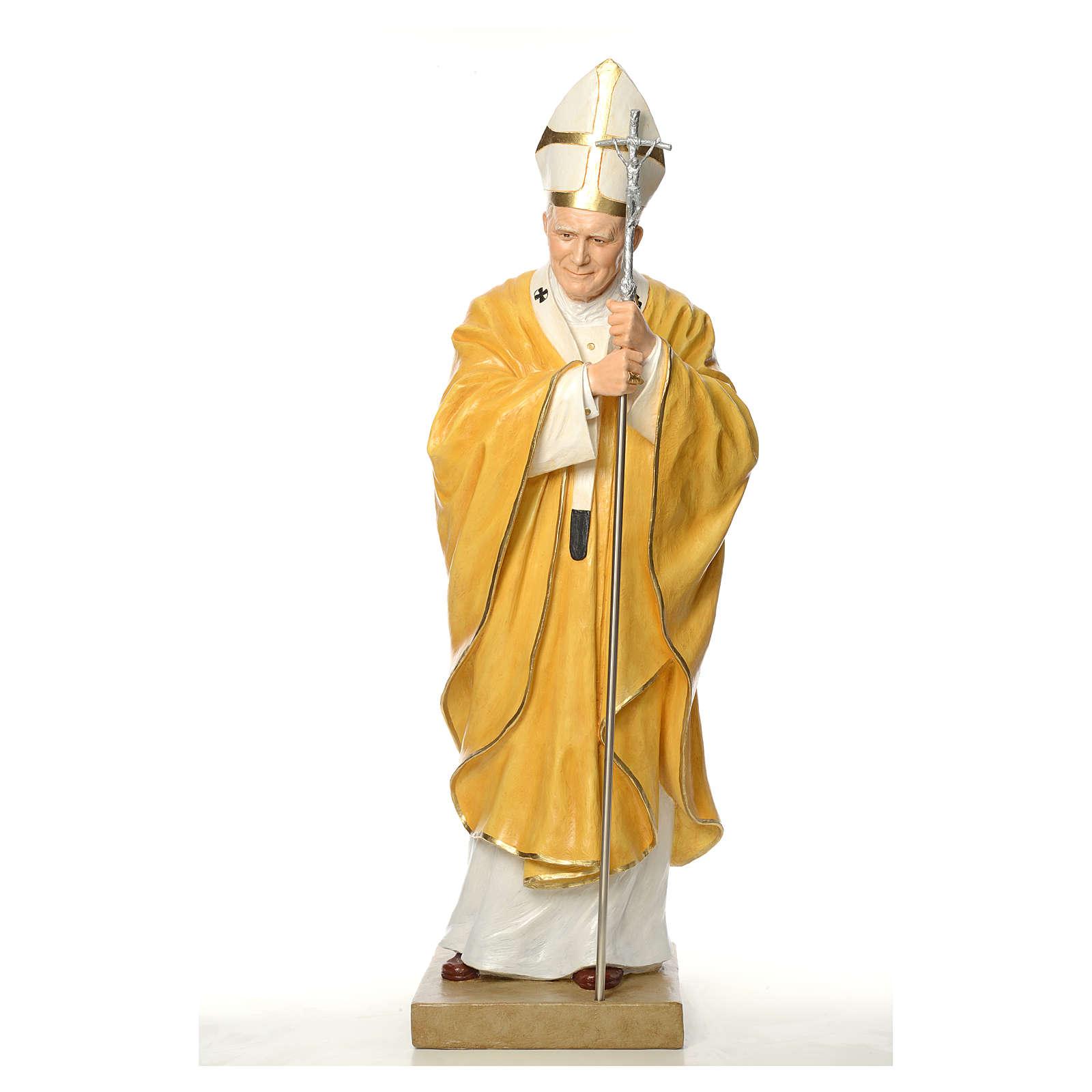 Estatua Juan Pablo II Landi cm 165 fibra de vidrio 4
