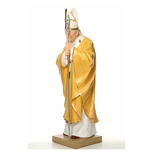 Estatua Juan Pablo II Landi cm 165 fibra de vidrio 2
