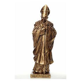 Estatua Juan Pablo II 140 cm Fibra de vidrio color Bronce Landi s1