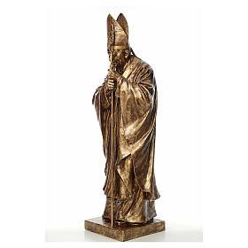 Estatua Juan Pablo II 140 cm Fibra de vidrio color Bronce Landi s2