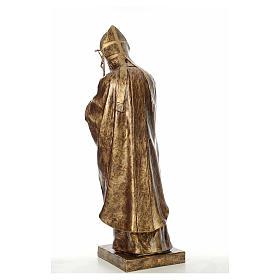 Estatua Juan Pablo II 140 cm Fibra de vidrio color Bronce Landi s3