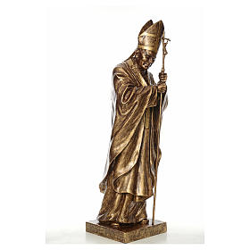 Estatua Juan Pablo II 140 cm Fibra de vidrio color Bronce Landi s4