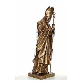 Statue Jean-Paul II fibre de verre couleur bronze 140cm Landi POUR EXTÉRIEUR s4