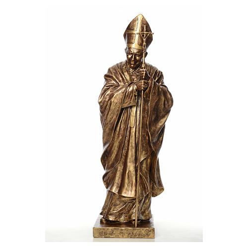 Statue Jean-Paul II fibre de verre couleur bronze 140cm Landi POUR EXTÉRIEUR 1